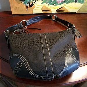 Coach black signature bag